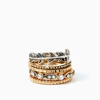 Circle of Leaves Ring Set | Fashion Jewelry - Icon | charming charlie