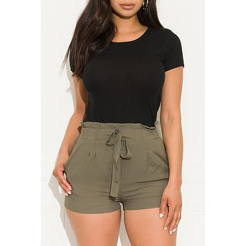 Ready For Summer Shorts Olive