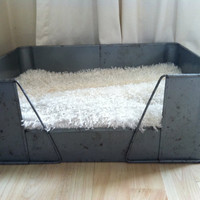 Vintage Industrial Chic Metal Dog Bed by thevirginandthegypsy