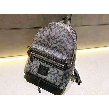 Coach hot seller of casual printed backpacks with shopping bags for both men and women
