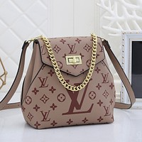 LV Louis Vuitton letter print shopping chain shoulder bag messenger bag