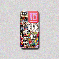 One Direction Collage - Print on Hard Cover for iPhone 4/4s, iPhone 5/5s, iPhone 5c - Choose the option in right side