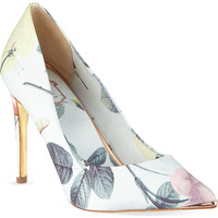Floral printed court shoes