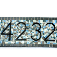 CUSTOM Address Sign, Mosaic House Numbers