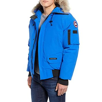 PBI Chilliwack Down Bomber Jacket with Genuine Coyote Trim Royal Pbi Blue