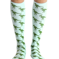 Dinosaur Knee High Socks