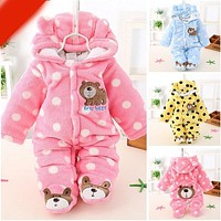 Baby Winter Romper Cotton Padded Thick born Baby Girl Warm Jumpsuit Autumn Baby's Wear Kid Climb Clothes SA822256
