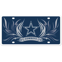 Dallas Cowboys Styrene License Plate