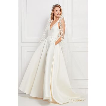 Wtoo by Watters 12119 Corbyn Keyhole Back Satin Ball Gown Wedding Dress