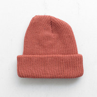 Basic Brushed Beanie in Rust
