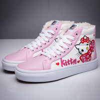 Trendsetter VANS X Hello Kitty SK8-Hi Flats Ankle Boots Sneakers Sport Shoes