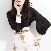 Limited Edition Anarchic Work Suit - Top & Skirt One Price