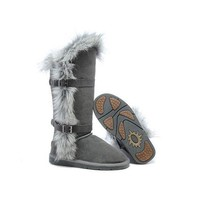 Ugg Boots Outlet Fox Fur tall 1984 Grey For Women 95 95