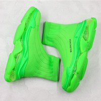Balenciaga Triple S 2 Socks Shoes Green 35-44