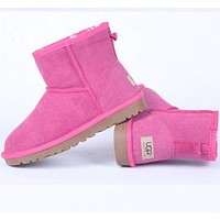 """UGG"" Women male Fashion Wool Snow Boots pink"