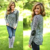 Leather Forecast Sweater