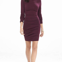 Burgundy Ruched Sweater Dress from EXPRESS