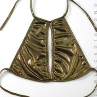 Liquid Gold Halter Top