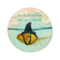 It's All About How You See Yourself Classic Round Sticker