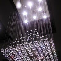 "Diamond Rain Pendant Lamp 16""D"