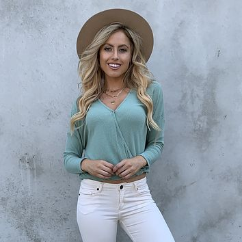 On My Mind Jersey Knit Top in Mint