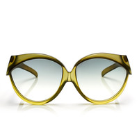 authentic & unique rare 70s vintage CHRISTIAN DIOR moss green lucite plastic oversized sunglasses shades sunnies Jackie O