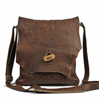 """Macbook Case 11 Inch, Leather Messenger Satchel, Handmade Cross Body Purse, Tote Bag, Distressed Leather Briefcase, Laptop Bag 13"""", 7W507"""