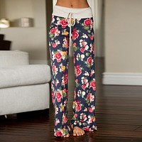 Women's Fashion Casual Print Pants [179839533082]