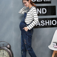 HI BLOOM New Jeans Maternity Pants For Pregnant Women Clothes Trousers Prop Belly Legging Pregnancy Clothing Overalls Long Pants