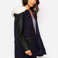 French Connection | French Connection Hooded Parka at ASOS