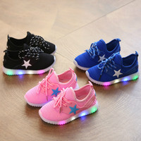 Children Summer Glowing Sneakers Luminous Children's LED Yeezy Shoes for Girls Boys Sports Casual Sneaker Infantil Shoes 325