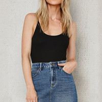 PacSun Frayed Denim Mini Skirt at PacSun.com