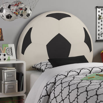 Upholstered Soccer Ball Twin Headboard