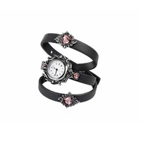 Alchemy Gothic Heartfelt Pink Heart Watch