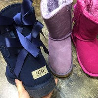 """""""UGG"""" Women fashion wool snow boots wool shoes G"""