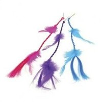 NEON FEATHER HAIR CLIPS