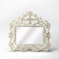 Favart Traditional Rectangular Wall Mirror White