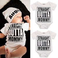 Baby Girl/Boy Letter Bodysuit Newborn Kid Outfits