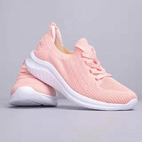 SKECHERS Trending Women Comfortable Breathable Knit Sport Shoes Sneakers Pink