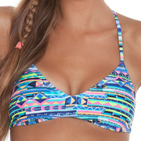 Gossip Swimwear Stripe Muse Strappy Bralette Bikini Top