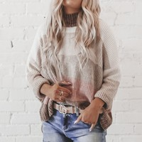 Uh Huh Honey Blush Striped Chenille Sweater