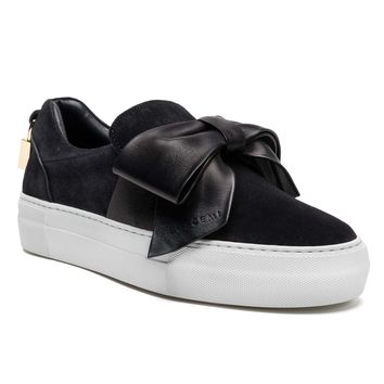 WOMENS 40MM BOW   BLACK SUEDE