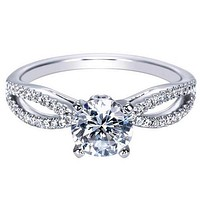 "Gabriel ""Elyse"" Split Shank Diamond Engagement Ring"