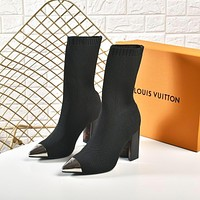 LV Louis Vuitton Women's Flyknit Boots Shoes