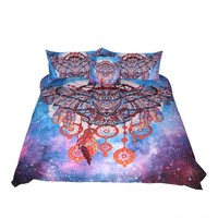 Bedding Outlet Owl Dreamcatcher with Feathers Bedding Set