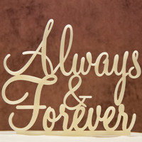Wedding Cake Topper Always and Forever
