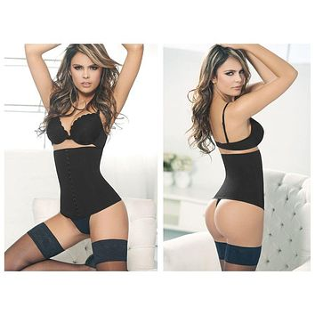 Ann Chery 1024 Powernet Girdle with Hooks Color Black