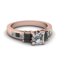 AMAZING 1.33CT WHITE PRINCESS 925 STERLING SILVER ENGAGEMENT AND WEDDING RING