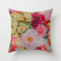 Flowers Throw Pillow by Hello Twiggs