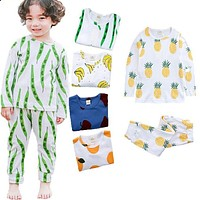 2 sets. shirt with long sleeves and pants boy pajamas children's pajamas Cute cartoon pajamas suit